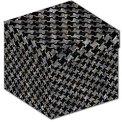 Houndstooth2 Black Marble & Gray Stone Storage Stool 12