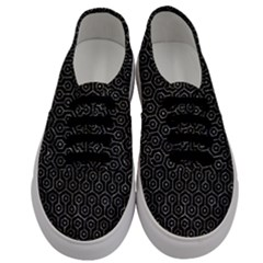 Hexagon1 Black Marble & Gray Stone Men s Classic Low Top Sneakers