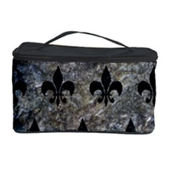 Royal1 Black Marble & Gray Stone Cosmetic Storage Case