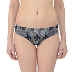 Royal1 Black Marble & Gray Stone Hipster Bikini Bottoms