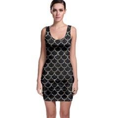 Scales1 Black Marble & Gray Stone Bodycon Dress