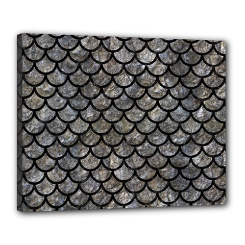 Scales1 Black Marble & Gray Stone (r) Canvas 20  X 16
