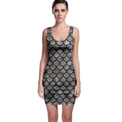 Scales1 Black Marble & Gray Stone (r) Bodycon Dress