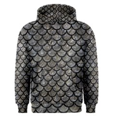 Scales1 Black Marble & Gray Stone (r) Men s Pullover Hoodie