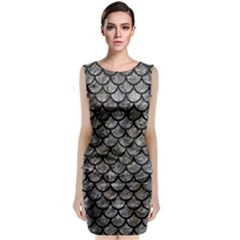 Scales1 Black Marble & Gray Stone (r) Classic Sleeveless Midi Dress