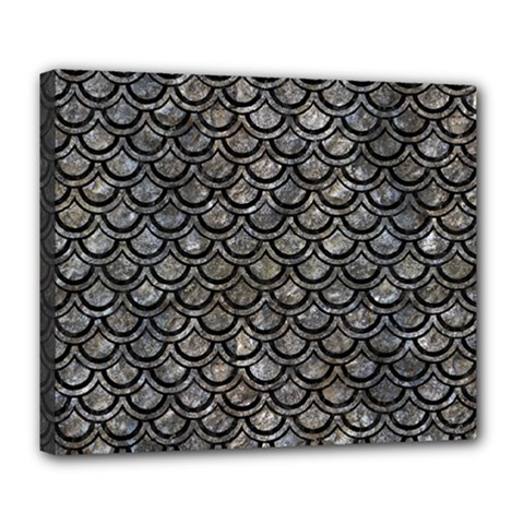 Scales2 Black Marble & Gray Stone (r) Deluxe Canvas 24  X 20