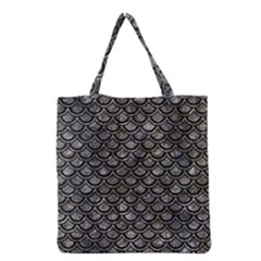 Scales2 Black Marble & Gray Stone (r) Grocery Tote Bag