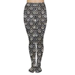 Scales2 Black Marble & Gray Stone (r) Women s Tights