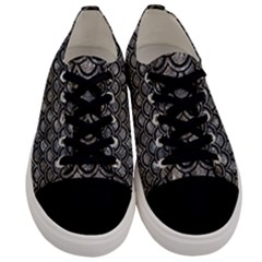Scales2 Black Marble & Gray Stone (r) Men s Low Top Canvas Sneakers