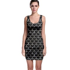 Scales3 Black Marble & Gray Stone Bodycon Dress