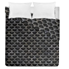 Scales3 Black Marble & Gray Stone Duvet Cover Double Side (queen Size)