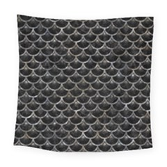 Scales3 Black Marble & Gray Stone Square Tapestry (large)