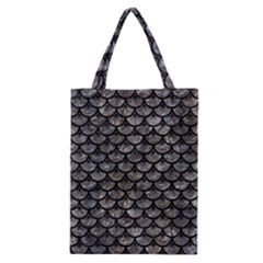 Scales3 Black Marble & Gray Stone (r) Classic Tote Bag