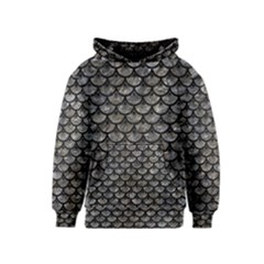 Scales3 Black Marble & Gray Stone (r) Kids  Pullover Hoodie