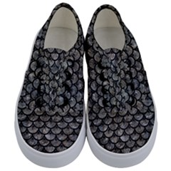 Scales3 Black Marble & Gray Stone (r) Kids  Classic Low Top Sneakers