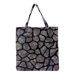 Skin1 Black Marble & Gray Stone Grocery Tote Bag