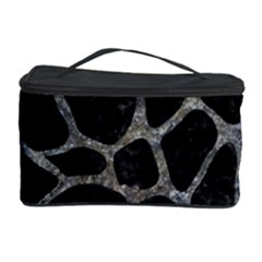 Skin1 Black Marble & Gray Stone (r) Cosmetic Storage Case