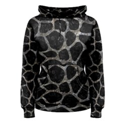 Skin1 Black Marble & Gray Stone (r) Women s Pullover Hoodie