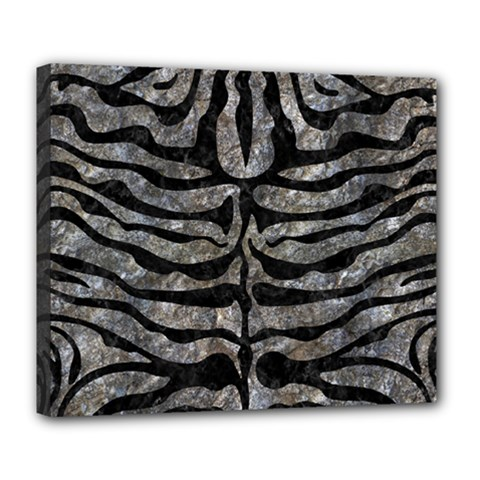 Skin2 Black Marble & Gray Stone (r) Deluxe Canvas 24  X 20