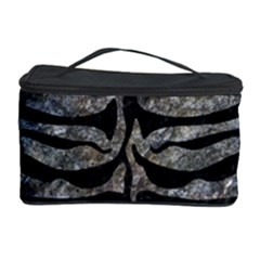 Skin2 Black Marble & Gray Stone (r) Cosmetic Storage Case
