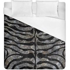 Skin2 Black Marble & Gray Stone (r) Duvet Cover (king Size)