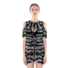 Skin2 Black Marble & Gray Stone (r) Shoulder Cutout One Piece