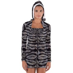 Skin2 Black Marble & Gray Stone (r) Long Sleeve Hooded T Shirt