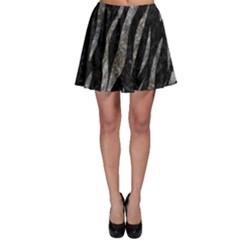 Skin3 Black Marble & Gray Stone Skater Skirt