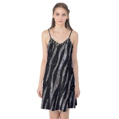 Skin3 Black Marble & Gray Stone Camis Nightgown
