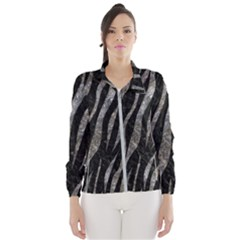 Skin3 Black Marble & Gray Stone Wind Breaker (women)