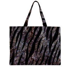 Skin3 Black Marble & Gray Stone (r) Zipper Mini Tote Bag