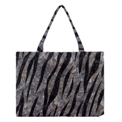 Skin3 Black Marble & Gray Stone (r) Medium Tote Bag