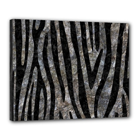 Skin4 Black Marble & Gray Stone Canvas 20  X 16