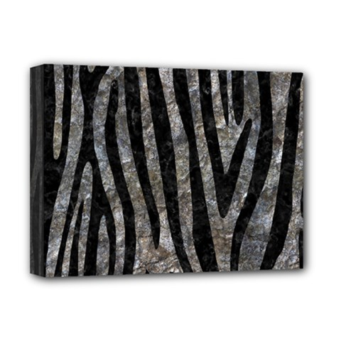 Skin4 Black Marble & Gray Stone Deluxe Canvas 16  X 12