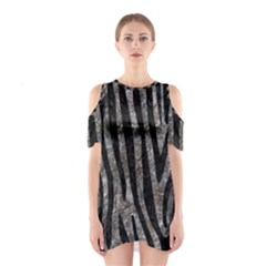 Skin4 Black Marble & Gray Stone Shoulder Cutout One Piece