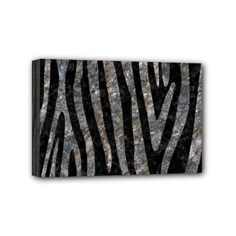 Skin4 Black Marble & Gray Stone (r) Mini Canvas 6  X 4
