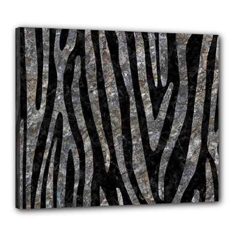 Skin4 Black Marble & Gray Stone (r) Canvas 24  X 20