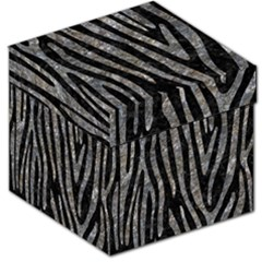 Skin4 Black Marble & Gray Stone (r) Storage Stool 12