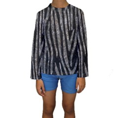 Skin4 Black Marble & Gray Stone (r) Kids  Long Sleeve Swimwear