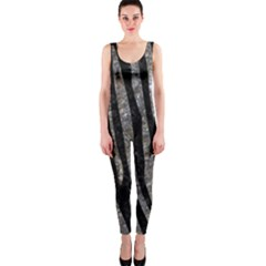 Skin4 Black Marble & Gray Stone (r) Onepiece Catsuit