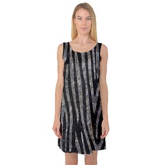 Skin4 Black Marble & Gray Stone (r) Sleeveless Satin Nightdress