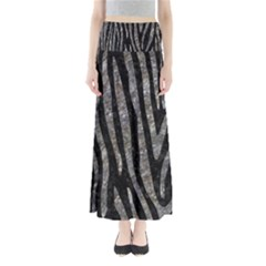 Skin4 Black Marble & Gray Stone (r) Full Length Maxi Skirt