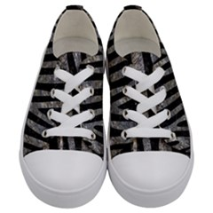 Skin4 Black Marble & Gray Stone (r) Kids  Low Top Canvas Sneakers