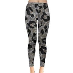 Skin5 Black Marble & Gray Stone Leggings