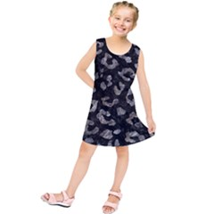 Skin5 Black Marble & Gray Stone (r) Kids  Tunic Dress