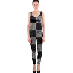 Square1 Black Marble & Gray Stone Onepiece Catsuit