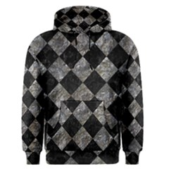 Square2 Black Marble & Gray Stone Men s Pullover Hoodie