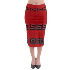 Pencil Skirt In Red By Annabellerockz