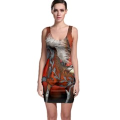 Awesome Steampunk Horse With Wings Bodycon Dress