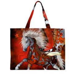 Awesome Steampunk Horse With Wings Zipper Large Tote Bag